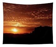 Red Hot Sunrise  Tapestry