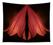 Red Liliy Flowers Scent The Night Tapestry