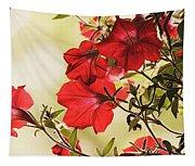 Red Petunias Tapestry