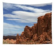 Red Rock Cliffs Valley Of Fire Nevada Tapestry