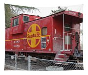 Red Sante Fe Caboose Train . 7d10325 Tapestry
