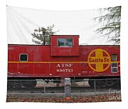 Red Sante Fe Caboose Train . 7d10328 Tapestry