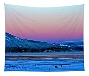 Red Sky At Dawn Tapestry