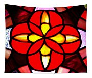 Red Stained Glass Tapestry