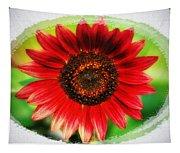 Red Sun Flower Tapestry