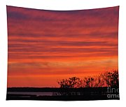Red Sunset Tapestry