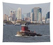 Red Tug Two Tapestry