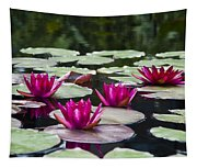 Red Water Lillies Tapestry