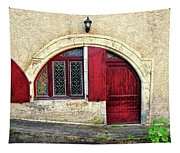 Red Windows And Door Provence France Tapestry