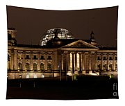 Reichstag At Night Tapestry