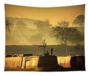Resting Narrowboats Tapestry