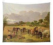 Resting Plough Team Tapestry