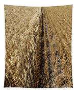 Ripened Wheat And Stubble In Saskatchewan Field Tapestry