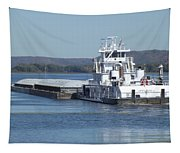River Barge Tapestry