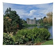 River In Front Of A Castle, Johnstown Tapestry