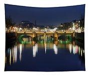 River Liffey At Night, Oconnell Street Tapestry