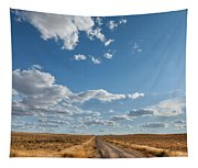 Road Near Ten Sleep Wyoming Tapestry