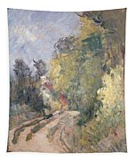 Road Turning Under Trees Tapestry