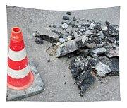 Roadworks - Asphalt And Pylon Tapestry