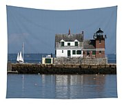 Rockland Breakwater Lighthouse Tapestry