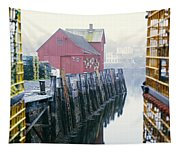 Rockport Harbor And Cages Tapestry