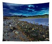 Rocky Beach In Western Canada Tapestry