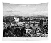 Rome: Scenic View, 1833 Tapestry