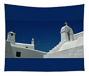 Rooftops Of Mykonos Tapestry