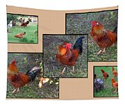 Rooster Red Tapestry