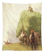 Roping The Wagon Tapestry