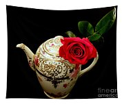 Rose With China Teapot Tapestry
