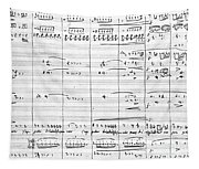 Rossini Manuscript Page Tapestry