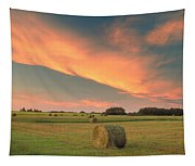 Round Hay Bales Tapestry
