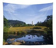 Round Tower In The Forest Glendalough Tapestry