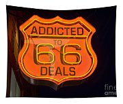 Route 66 Addicted Tapestry