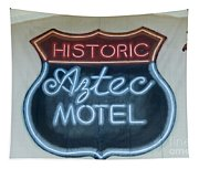 Route 66 Aztec Hotel Mural Tapestry