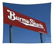 Route 66 Burma Shave Tapestry