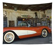 Route 66 Corvette Tapestry