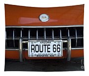 Route 66 Corvette Grill Tapestry