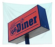 Route 66 Diner Sign Tapestry