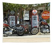 Route 66 Gas Pumps Tapestry