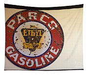 Route 66 Gasoline Sign Tapestry