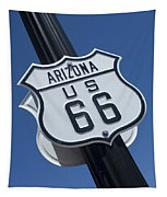 Route 66 Highway Sign Tapestry