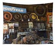 Route 66 Vintage Garage Tapestry