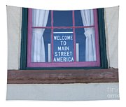 Route 66 Welcome Sign Tapestry