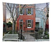 Row Home Contradiction Tapestry