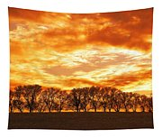 Row Of Trees Tapestry