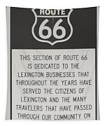 Rt 66 Lexington County Signage Tapestry