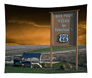 Rt 66 Towanda Signage Tapestry