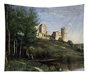 Ruins Of The Chateau De Pierrefonds Tapestry